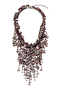 Rings & Things Wine Beaded Necklace - Product List Image