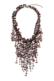 Rings & Things Wine Beaded Necklace - Front cropped