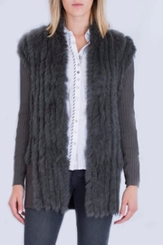 Rino Pelle Rabbit Fur Cardigan - Product Mini Image