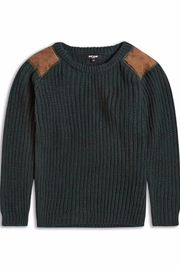 Riot Club Dark Green Sweater - Front cropped