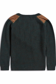 Riot Club Dark Green Sweater - Front full body