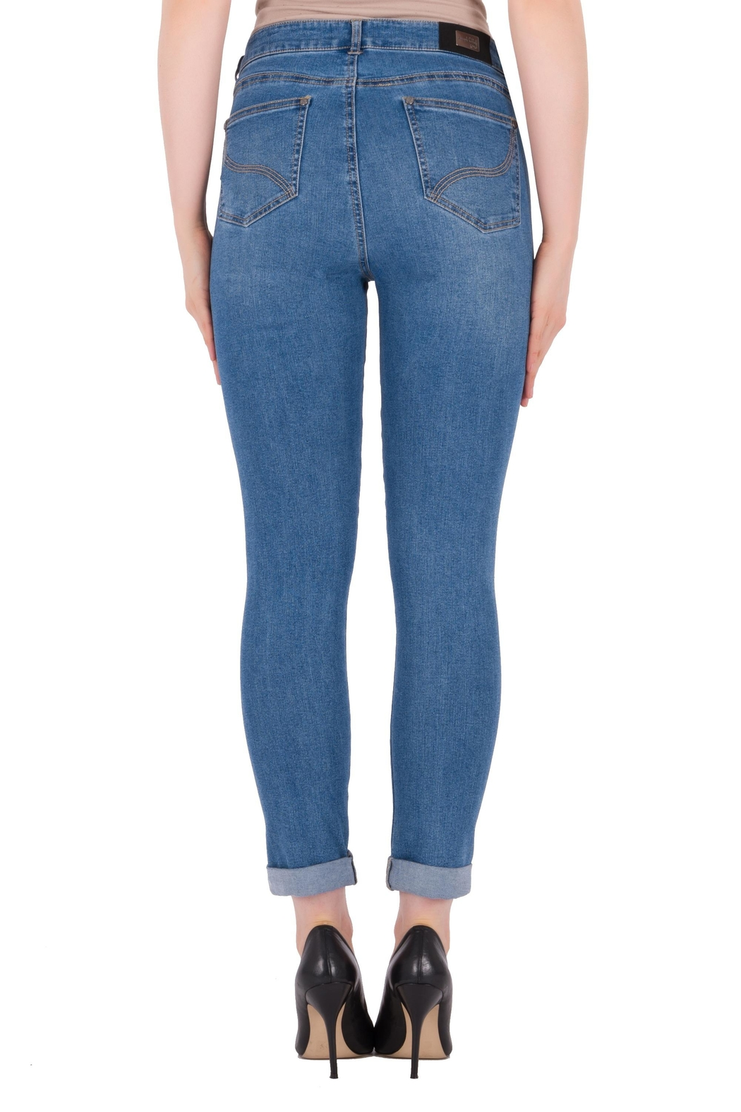 Joseph Ribkoff Rip Accent Jeans - Side Cropped Image