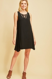 Entro Rip-Knot Neckline Fashion-Dress - Product Mini Image
