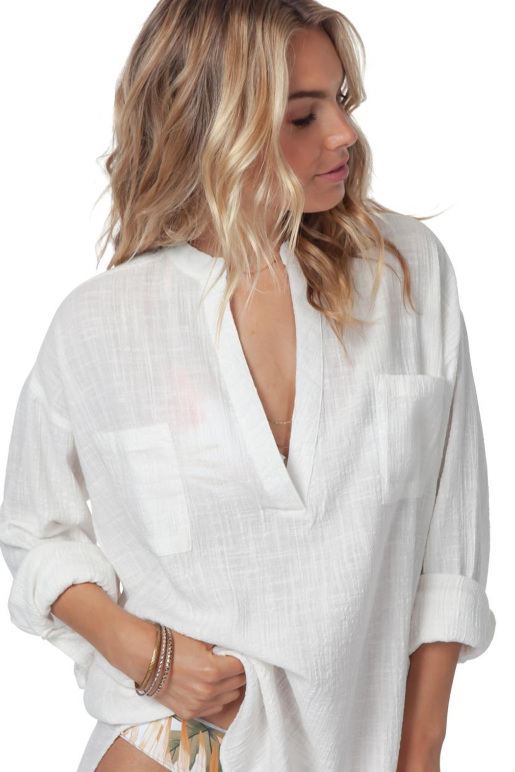 Rip Curl Koa Beach Shirt - Side Cropped Image
