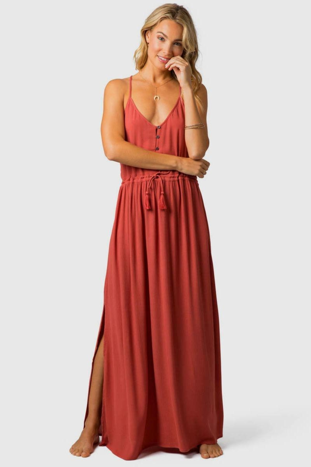 Rip Curl Nelly Maxi Dress - Front Cropped Image