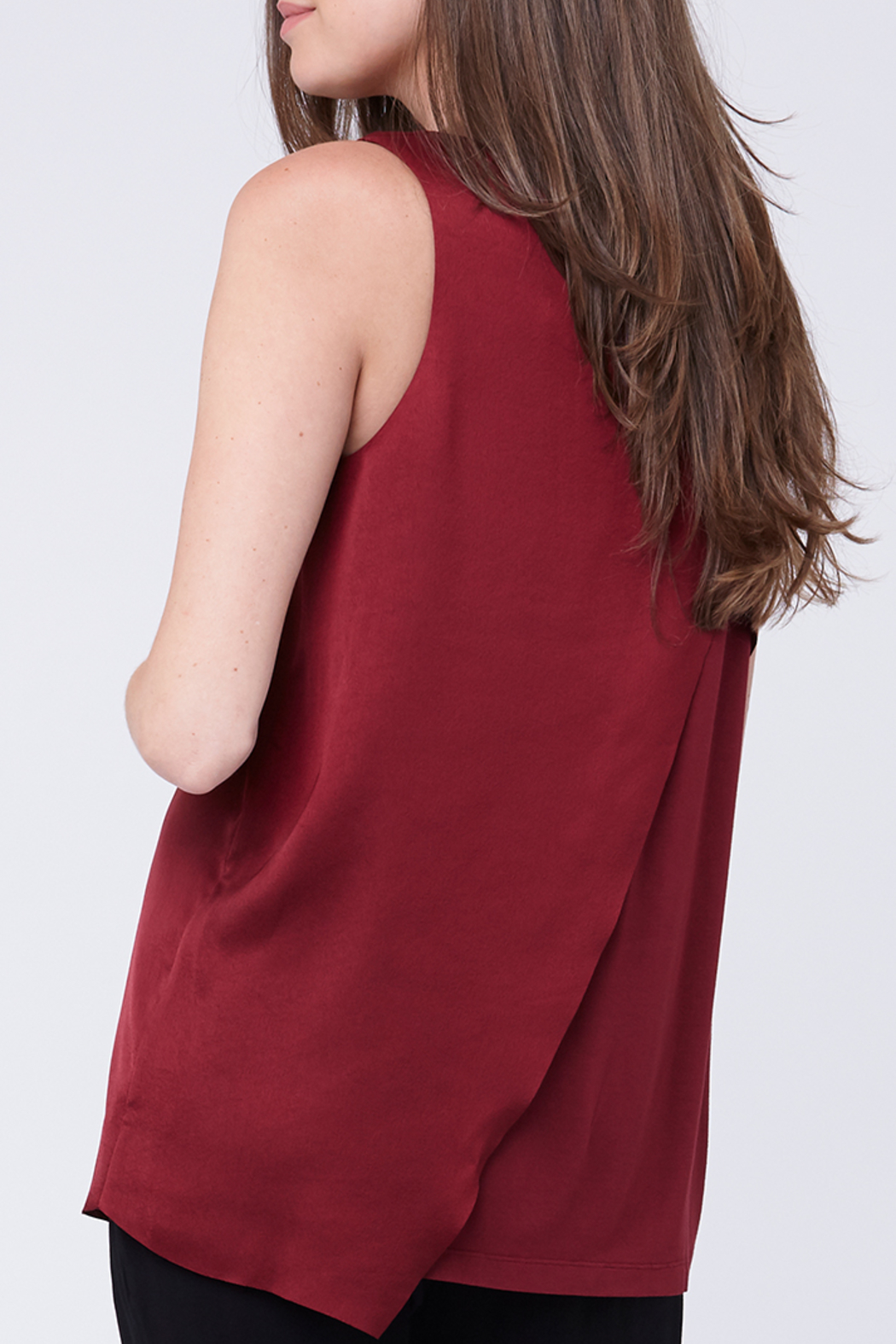 Ripe Maternity Asymmetric Nursing Top - Back Cropped Image