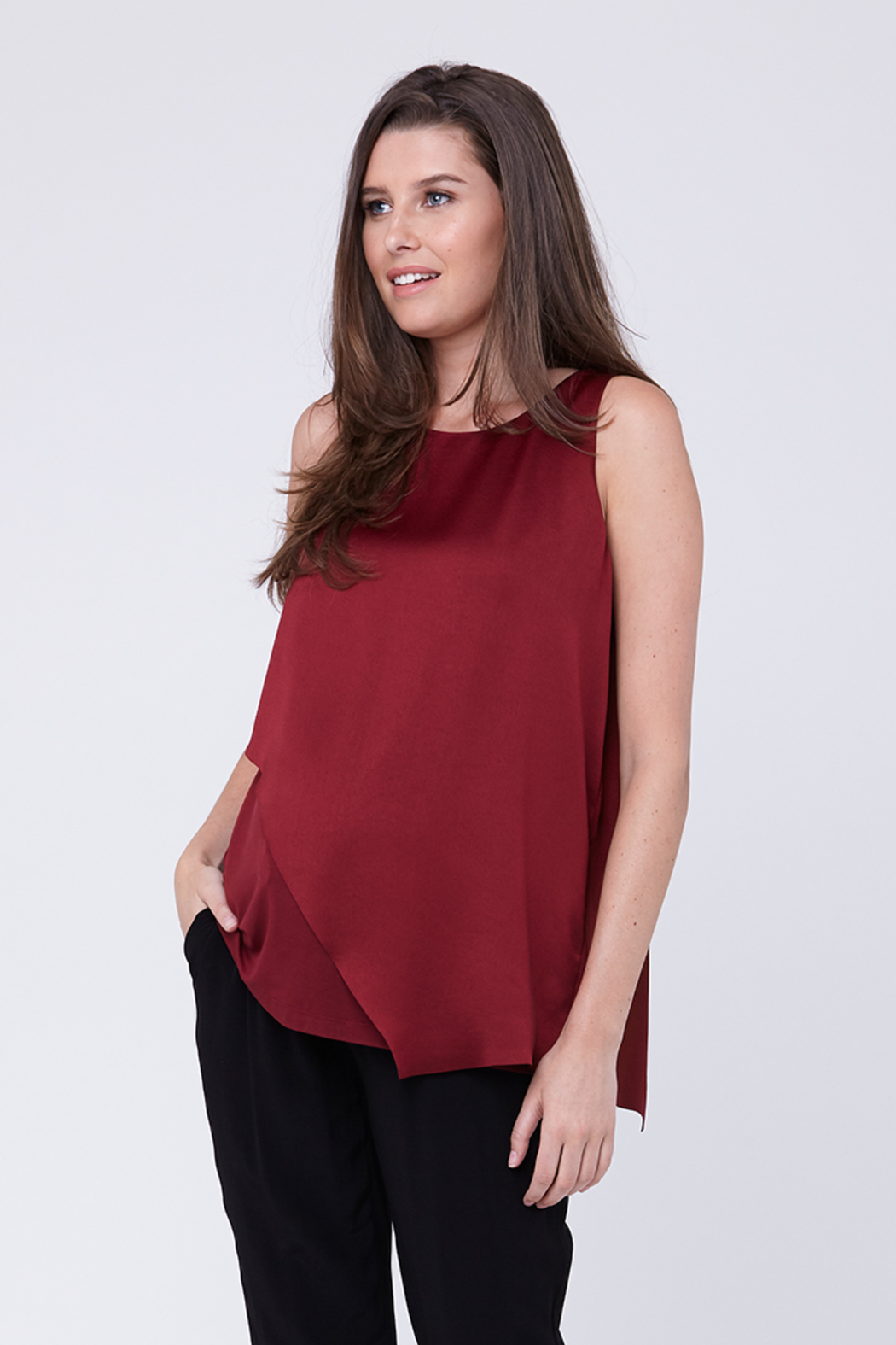 a3bbe886a8140 Ripe Maternity Asymmetric Nursing Top from North Carolina by Bump ...