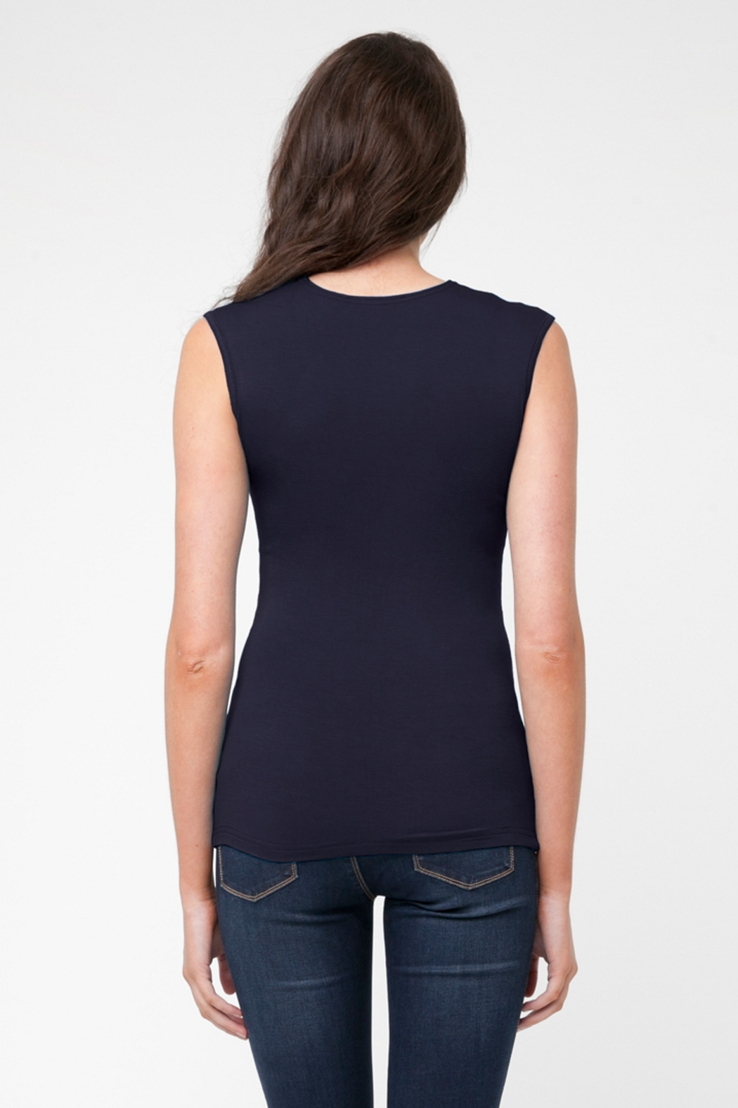 Ripe Maternity Navy Embrace Tank  Top - Side Cropped Image