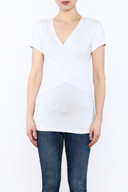 Ripe Maternity White Embrace Tee - Side cropped