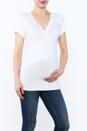 Ripe Maternity White Embrace Tee - Product Mini Image