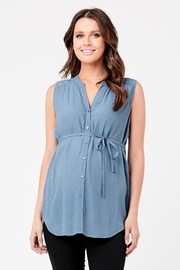 Ripe Maternity April Tunic - Petrol - Front cropped