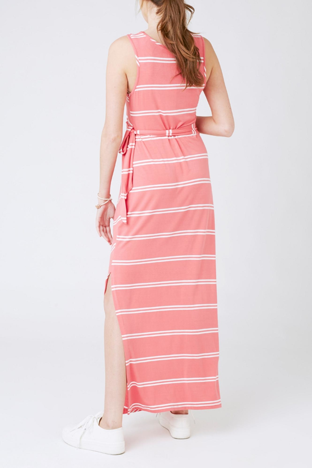Ripe Maternity Baked Coral Maxi - Front Full Image