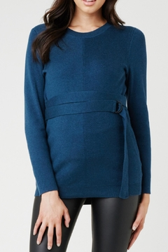 Shoptiques Product: Belted Knit Sweater
