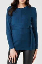 Ripe Maternity Belted Knit Sweater - Front cropped
