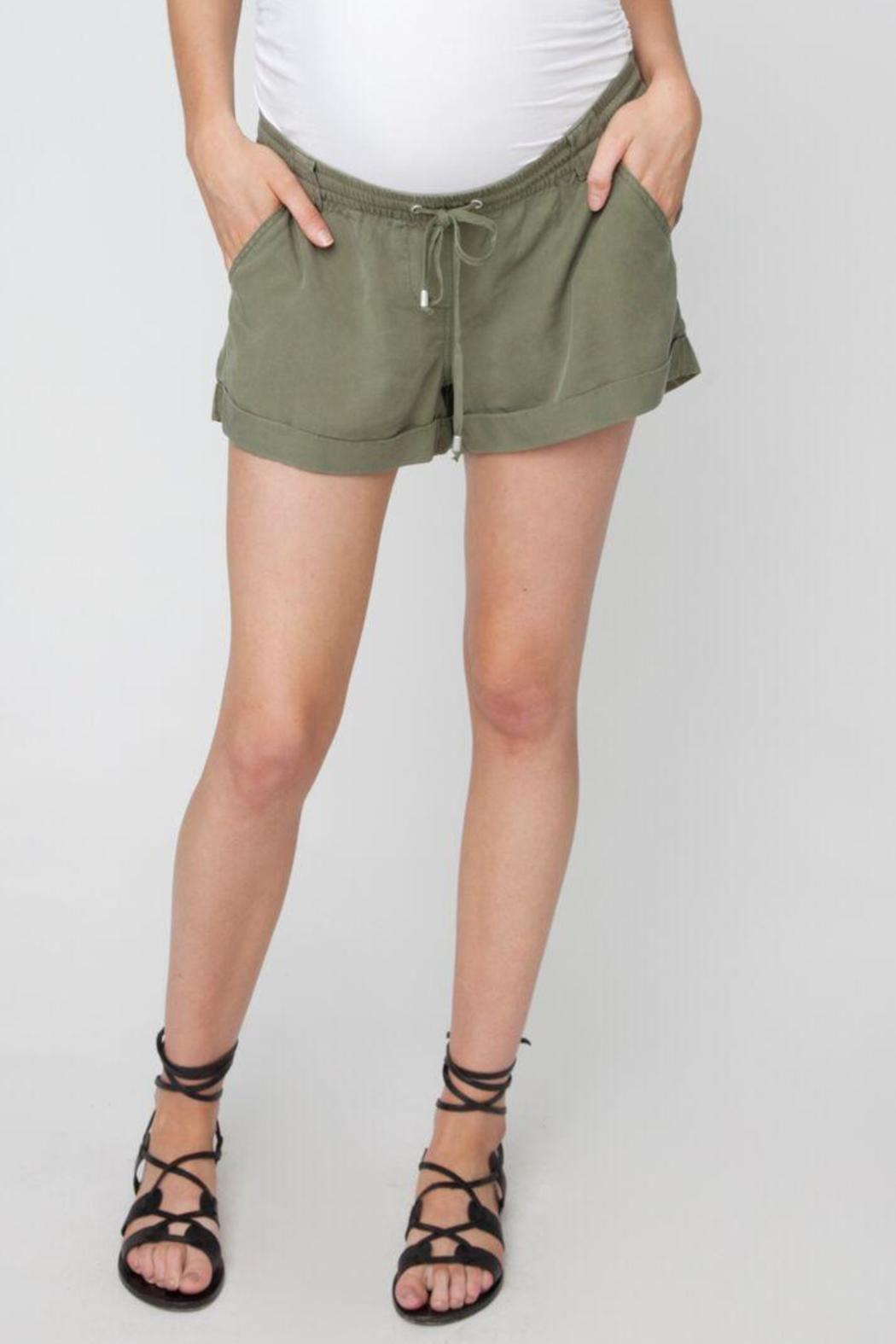 Ripe Maternity Combat Shorts - Front Cropped Image