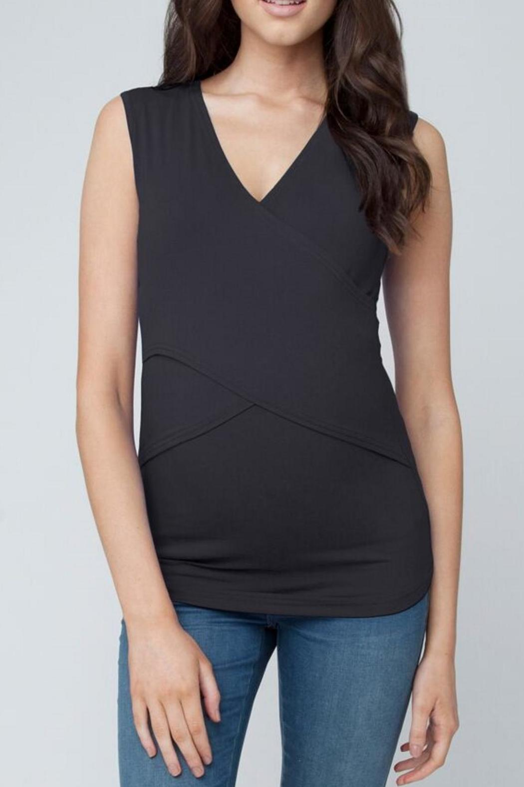 Ripe Maternity Embrace Tank - Black - Front Cropped Image