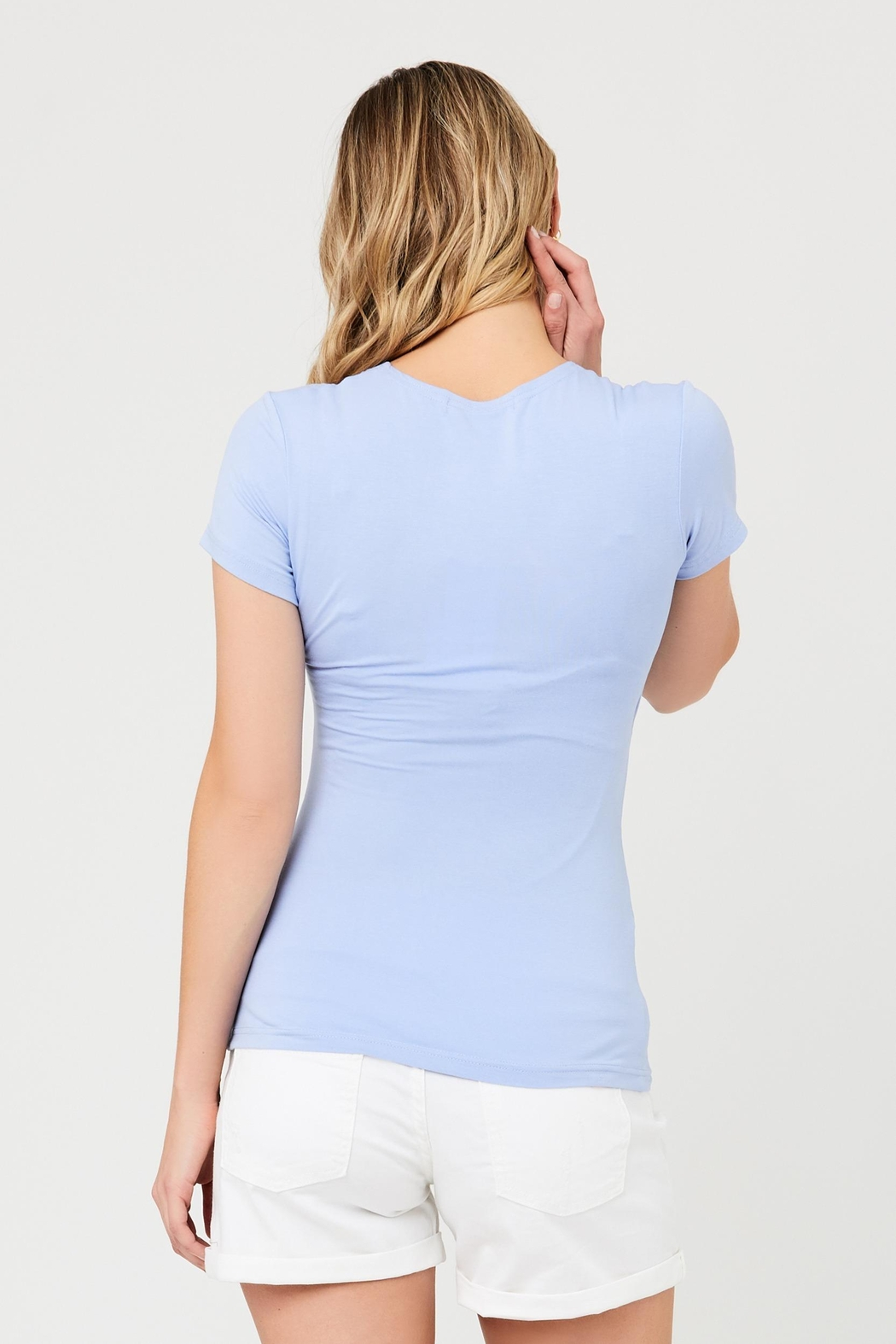 Ripe Maternity Embrace Tee - Bluebell - Side Cropped Image