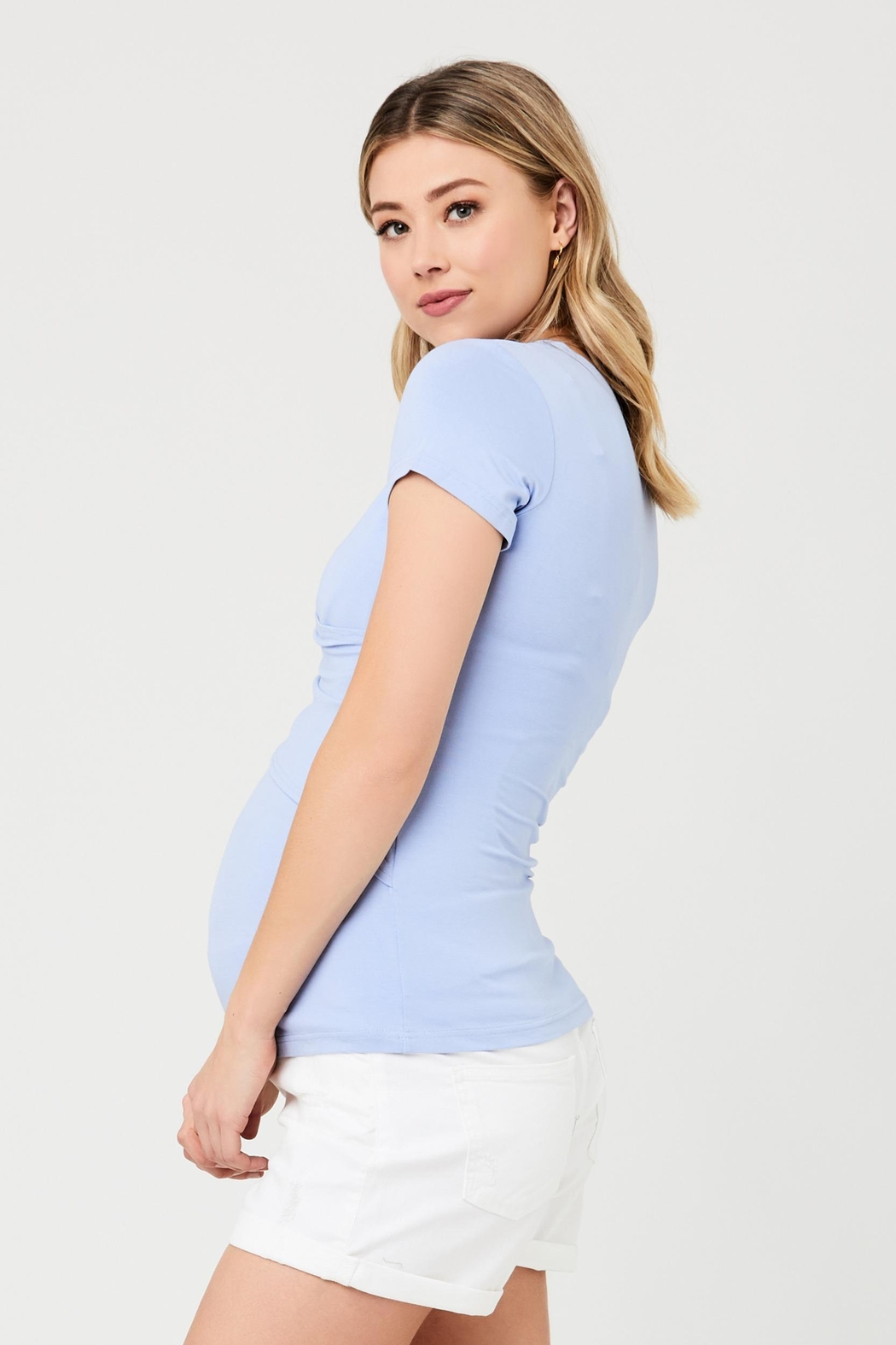 Ripe Maternity Embrace Tee - Bluebell - Front Full Image