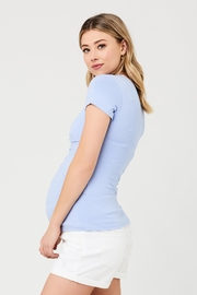 Ripe Maternity Embrace Tee - Bluebell - Front full body