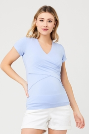 Ripe Maternity Embrace Tee - Bluebell - Front cropped