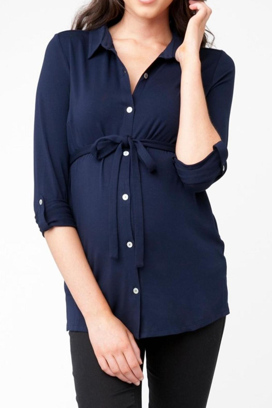 Ripe Maternity Jersey Nursing Shirt - Front Cropped Image