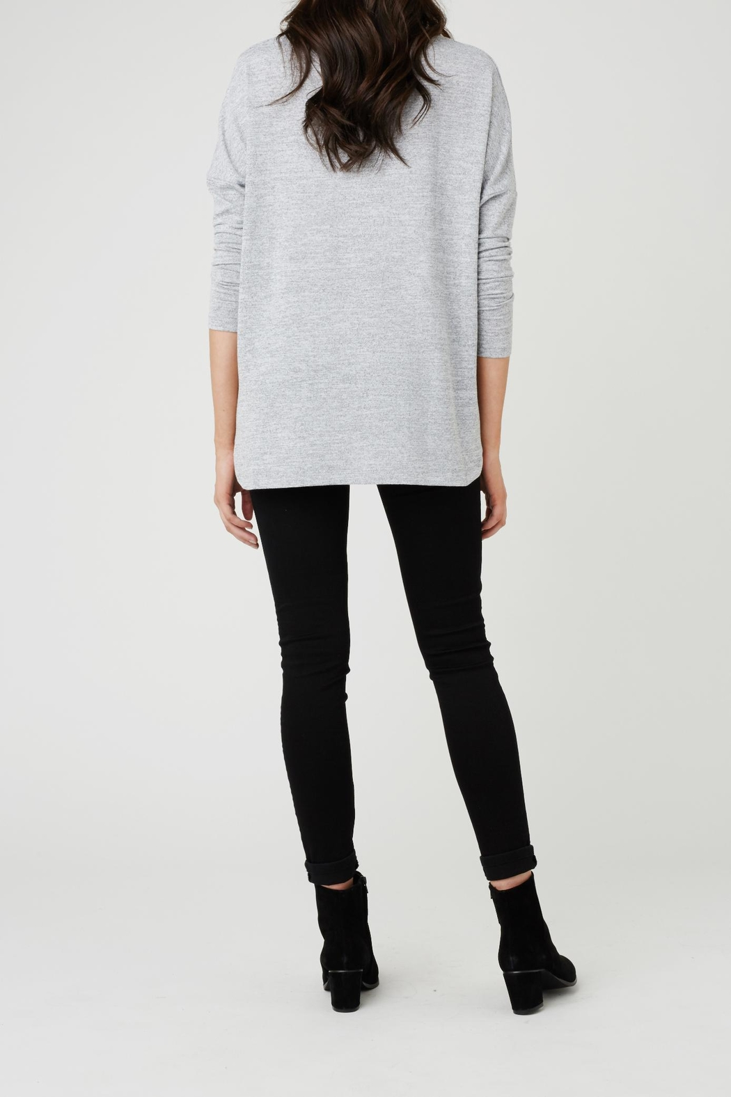Ripe Maternity Lightweight High-Low Sweater - Front Full Image