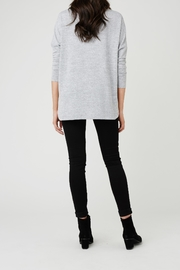 Ripe Maternity Lightweight High-Low Sweater - Front full body