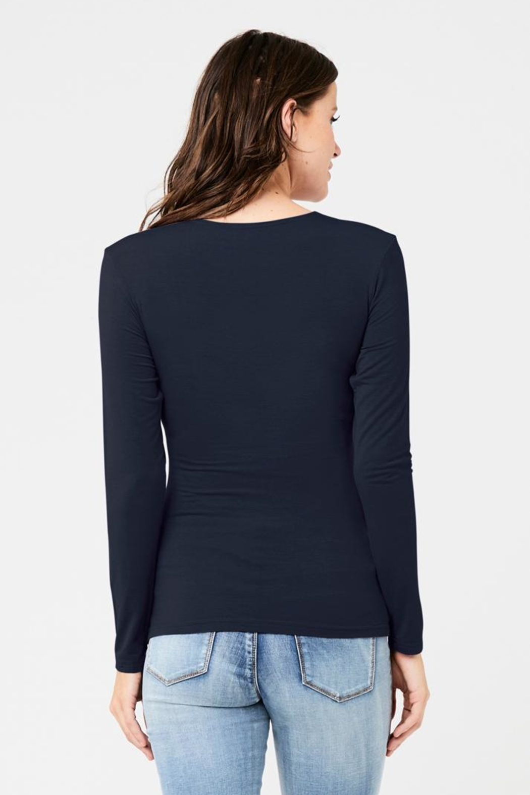 Ripe Maternity Embrace Top - Navy - Side Cropped Image