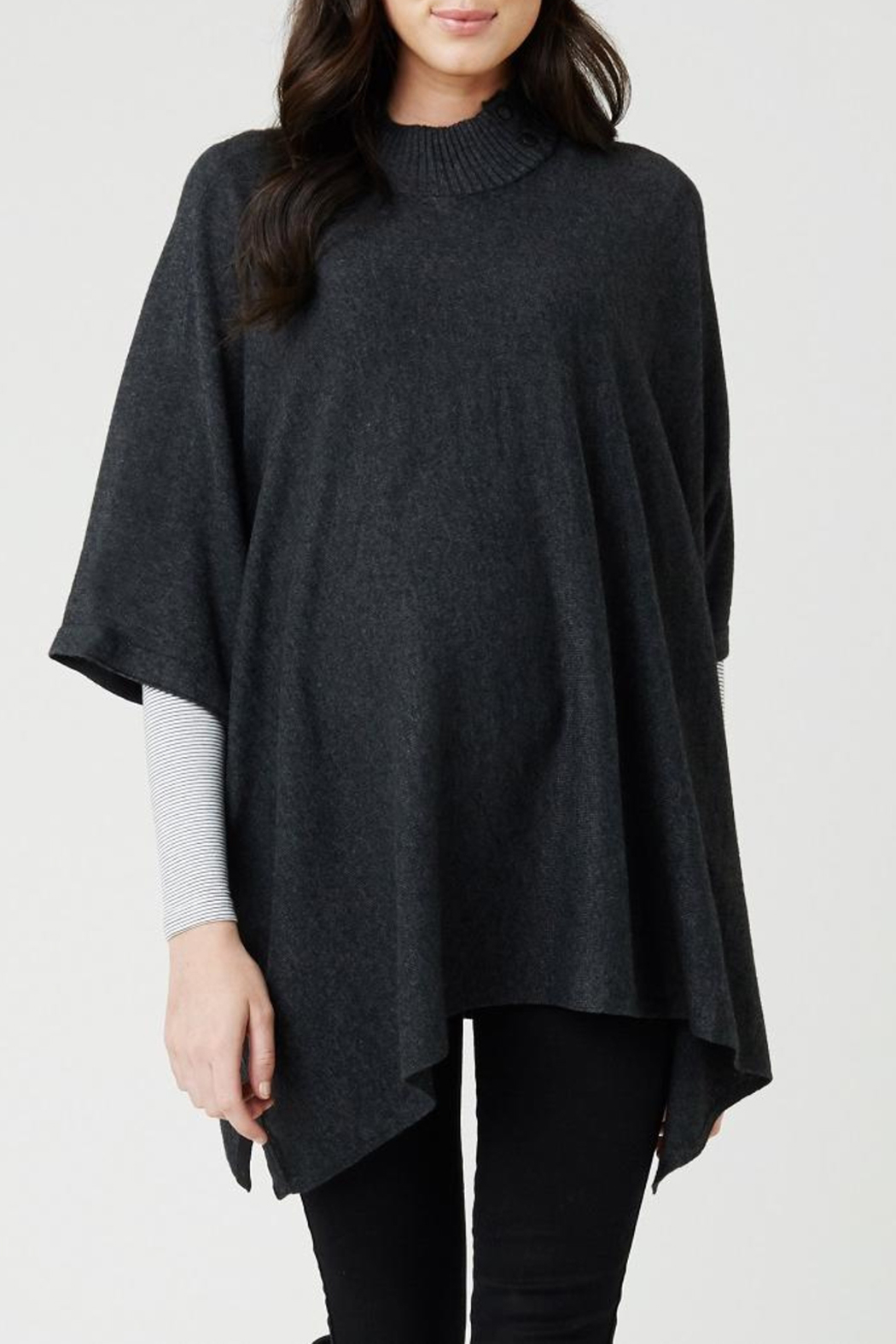 Ripe Maternity Nursing Knit Cape - Front Cropped Image
