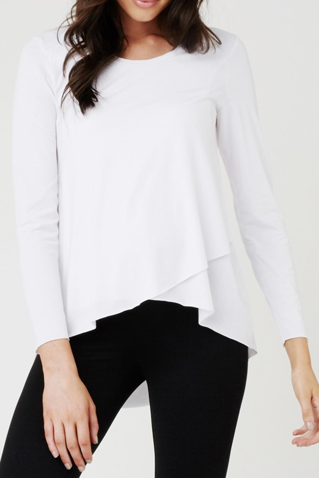 Ripe Maternity Raw Edge Tee - Front Cropped Image