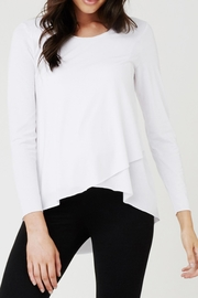 Ripe Maternity Raw Edge Tee - Front cropped