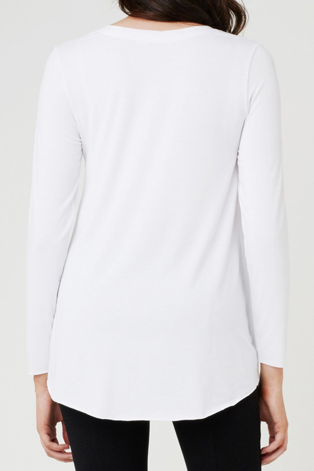 Ripe Maternity Raw Edge Tee - Side Cropped Image