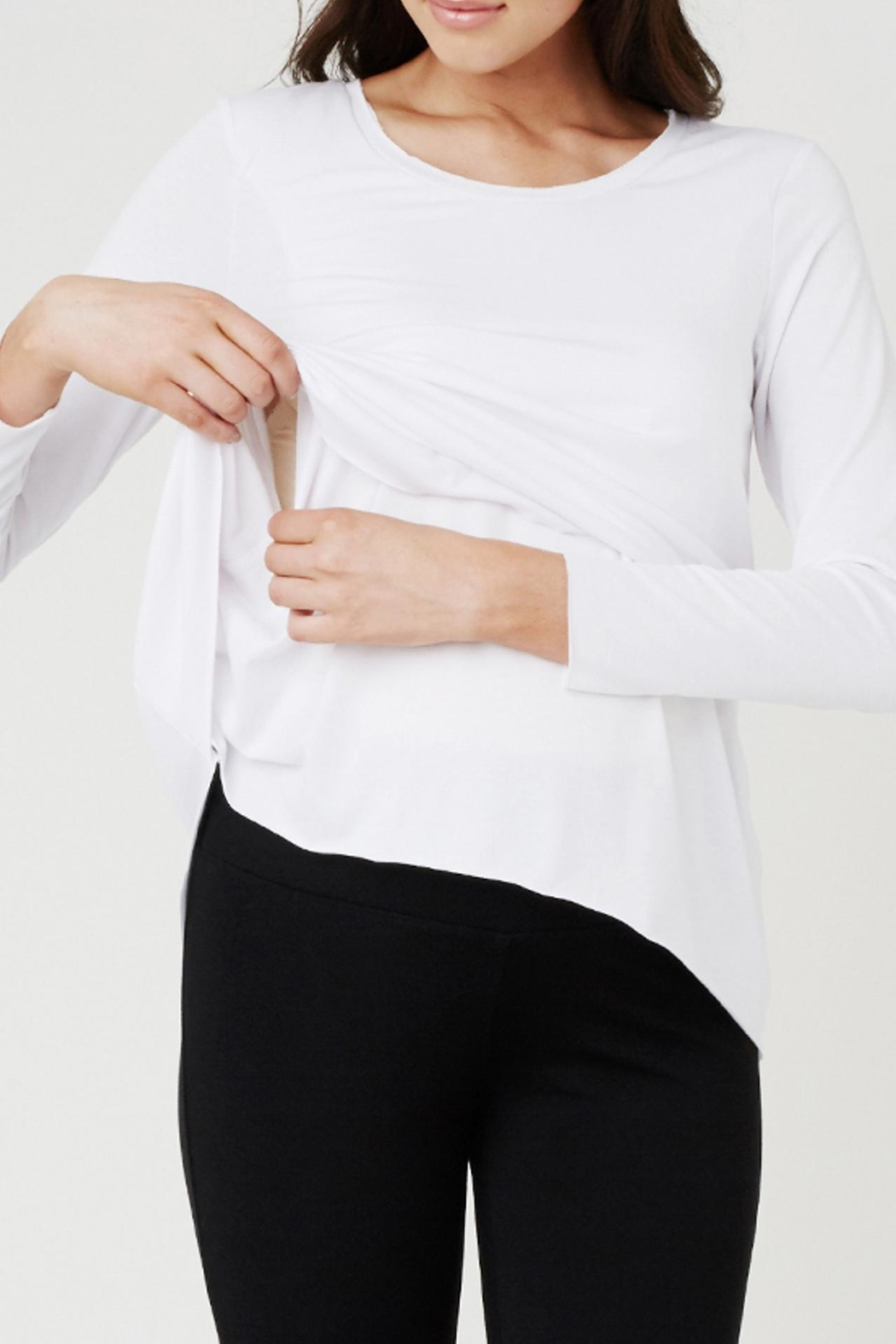 Ripe Maternity Raw Edge Tee - Front Full Image