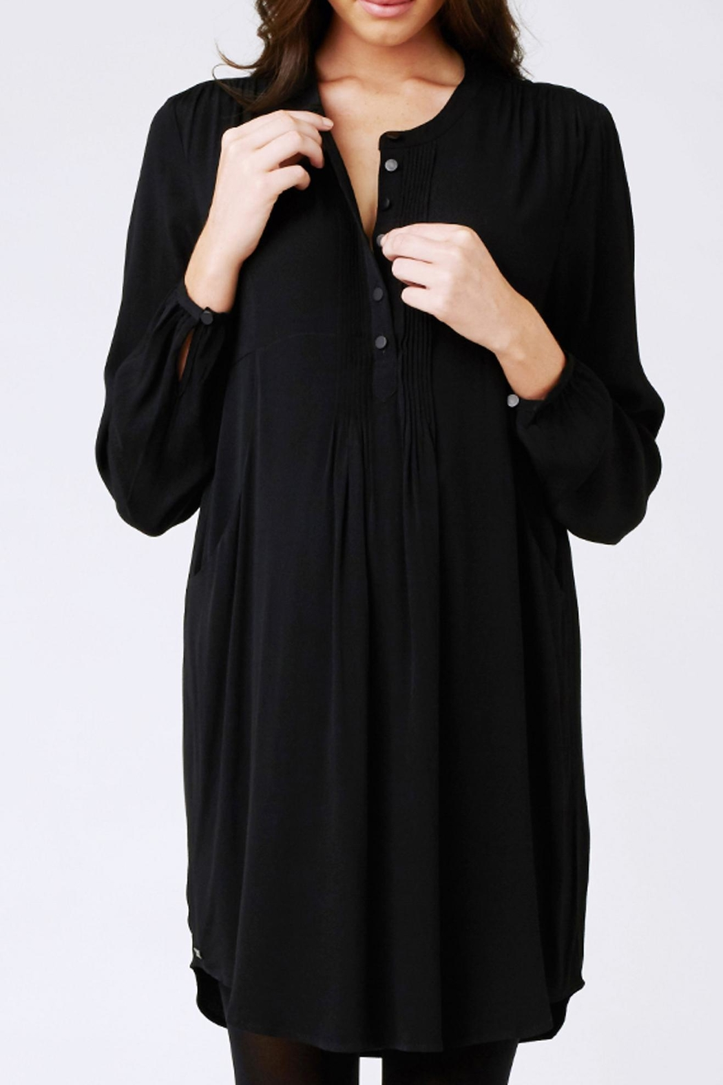 Ripe Maternity Robyn Pintuck Tunic - Front Full Image
