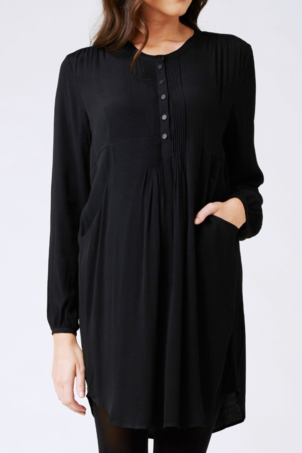 Ripe Maternity Robyn Pintuck Tunic - Front Cropped Image