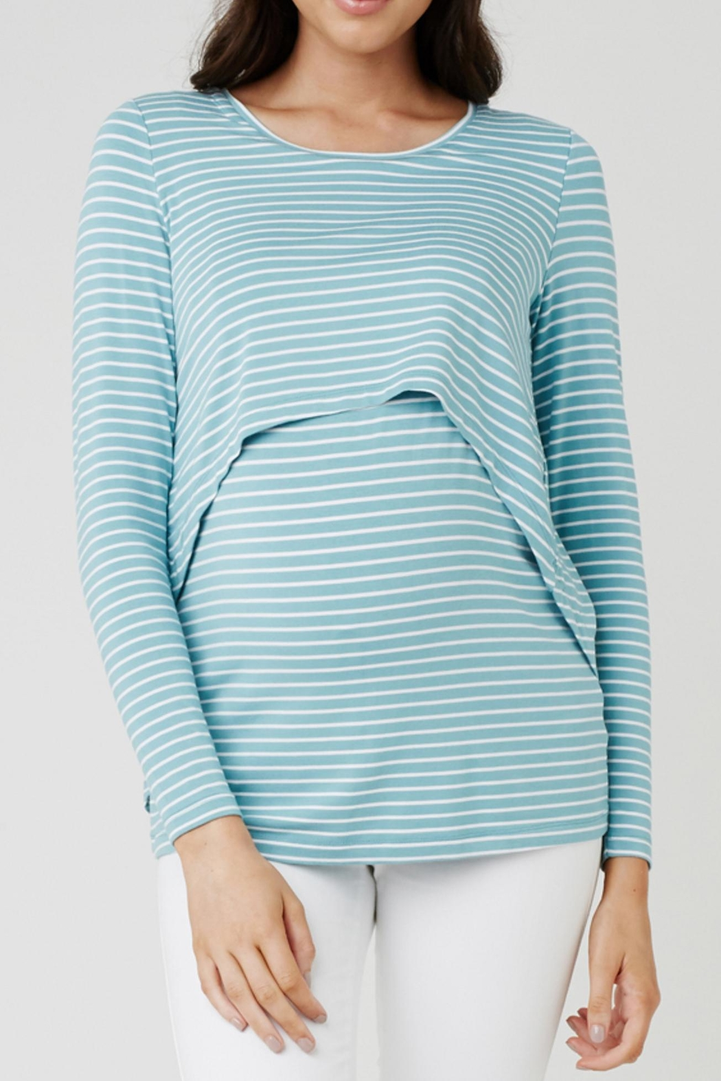 Ripe Maternity Turquoise Swing Top - Main Image