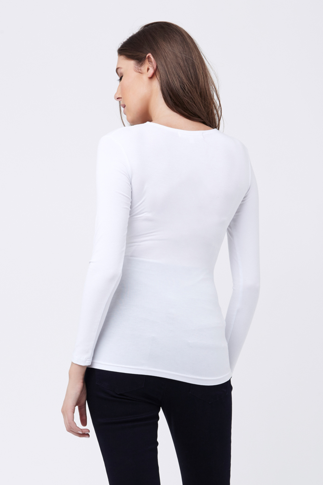 Ripe Maternity White Embrace Top - Side Cropped Image