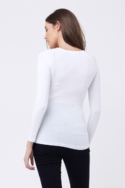 Ripe Maternity White Embrace Top - Side cropped