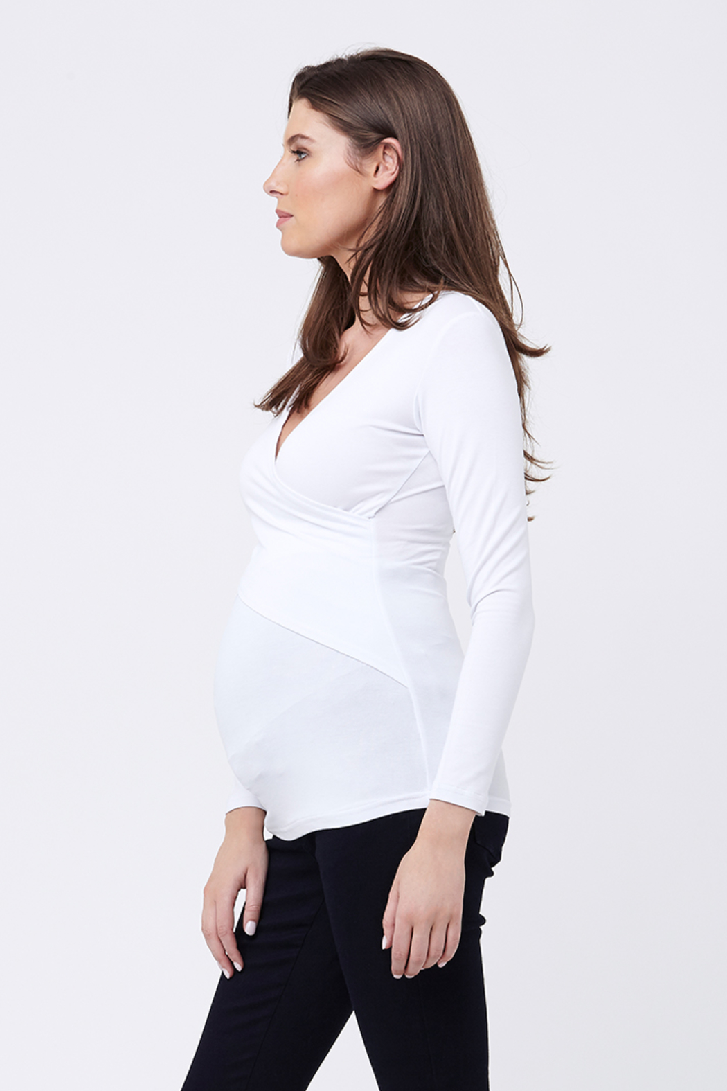 Ripe Maternity White Embrace Top - Front Full Image