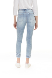 Charlie B Ripped Hem Jeans - Front full body