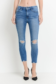 Just Black Denim Ripped-Hem Skinny Jeans - Product Mini Image