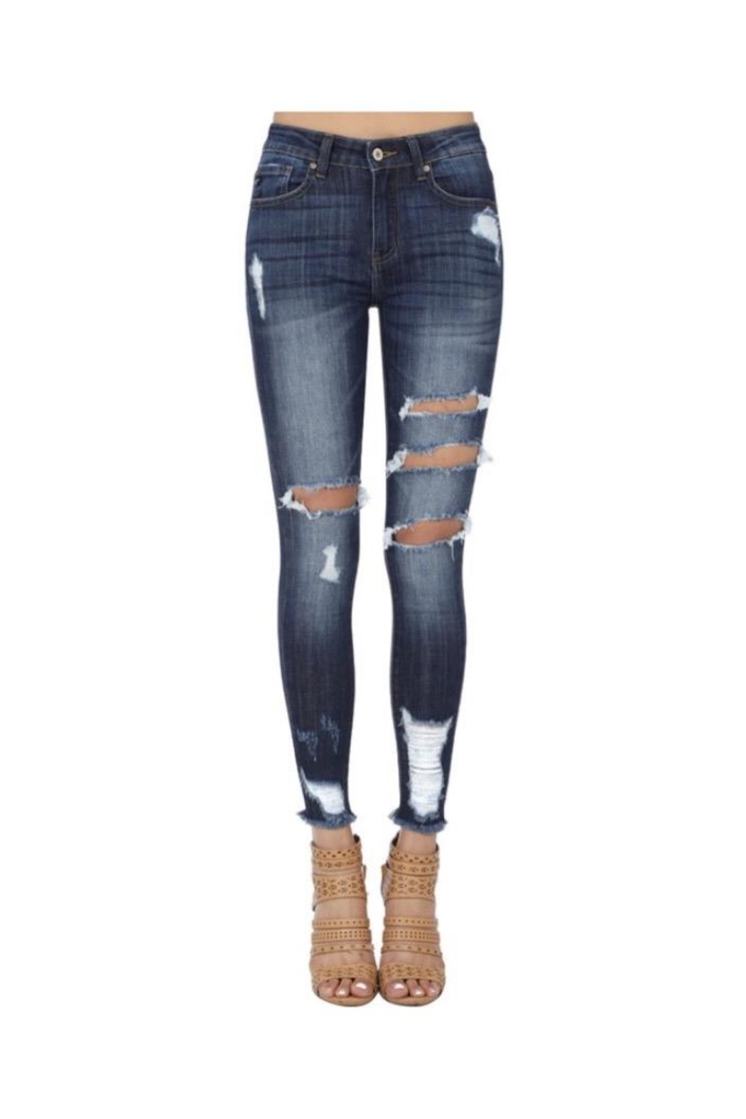 b9a063d0c93 KanCan Ripped Skinny Jeans from Brooklyn by Polly   Esther — Shoptiques