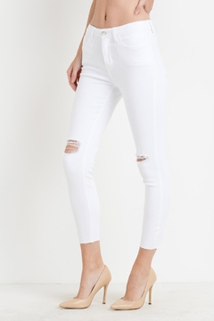 Just Black Denim Ripped Skinny Jeans - Product List Image