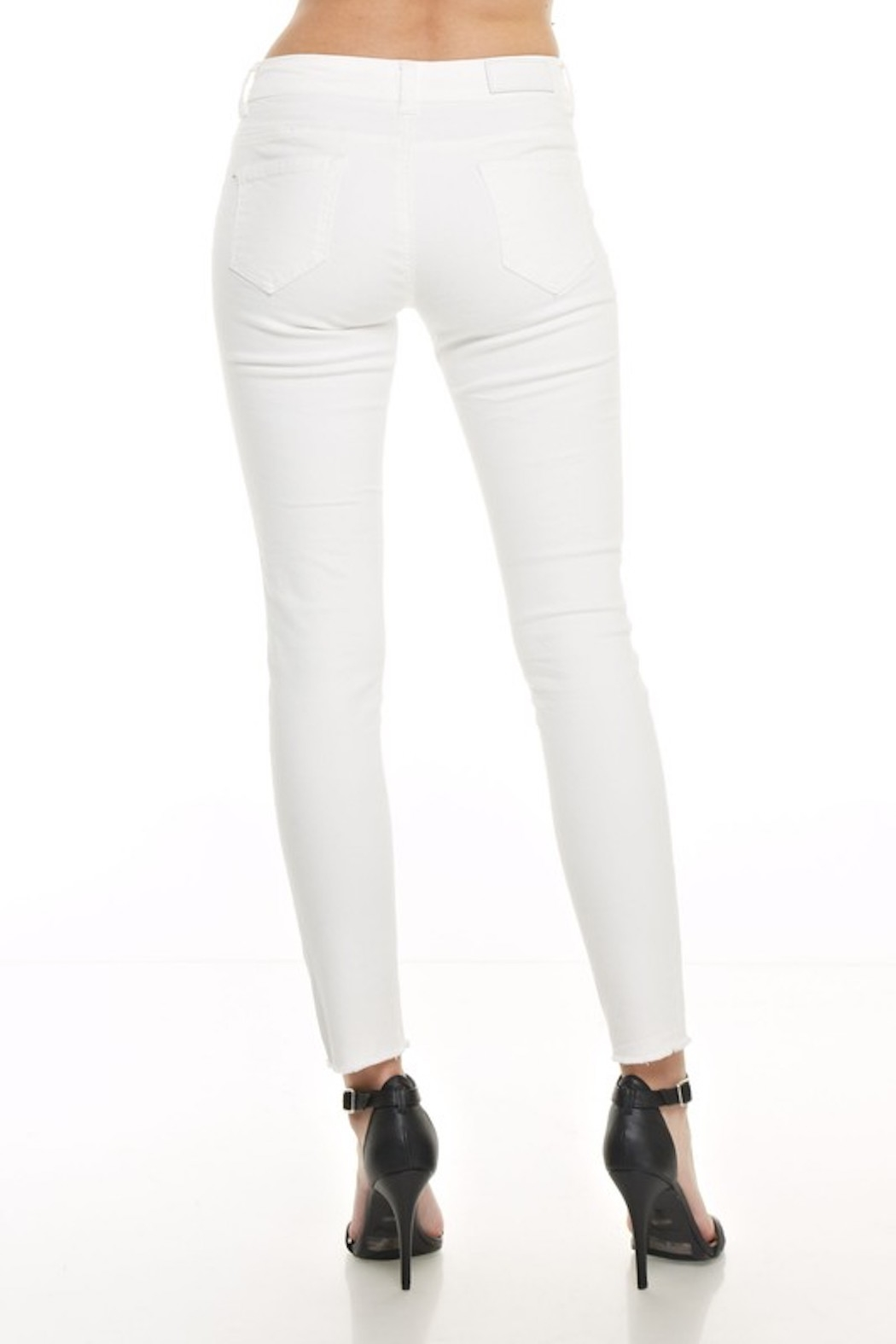 Monkey Ride Jeans Ripped Skinny Jeans - Side Cropped Image
