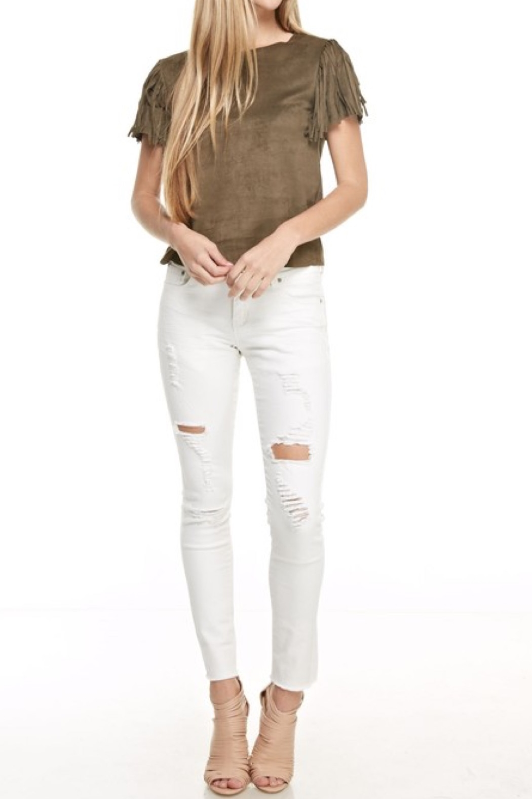 Monkey Ride Jeans Ripped Skinny Jeans - Main Image