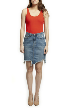 1a435fb4113 ... Dex Ripped step hem denim skirt - Product List Image