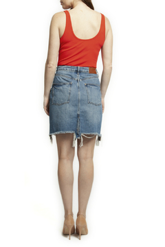 Dex Ripped step hem denim skirt - Alternate List Image