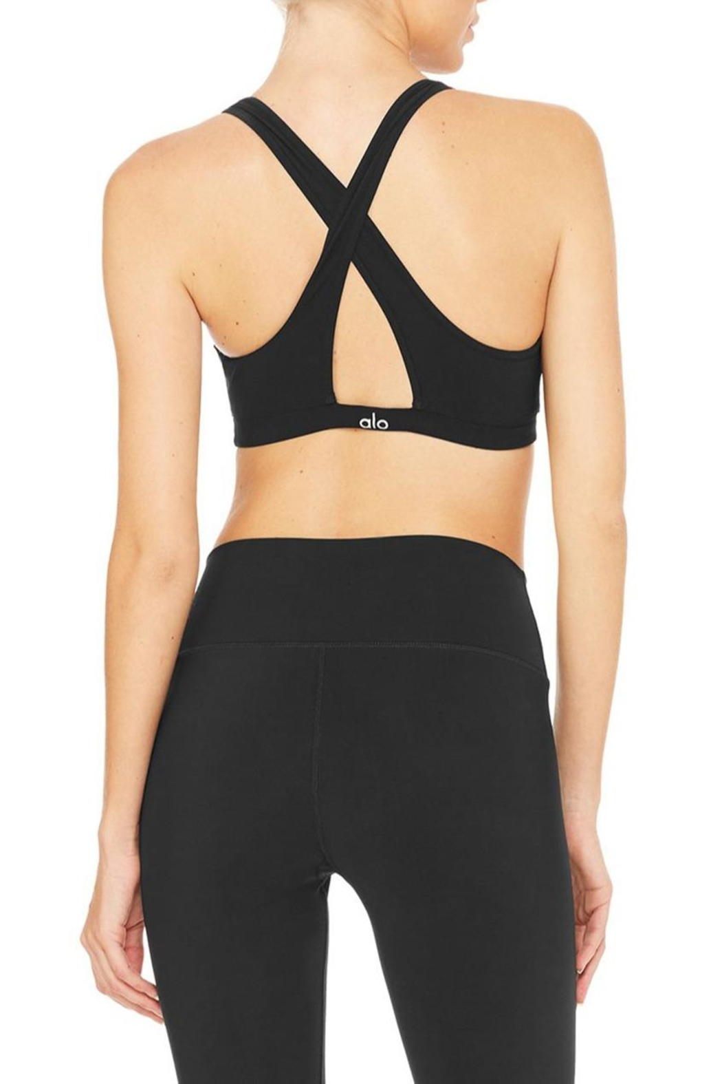 ALO Yoga Ripped Warrior Bra - Side Cropped Image