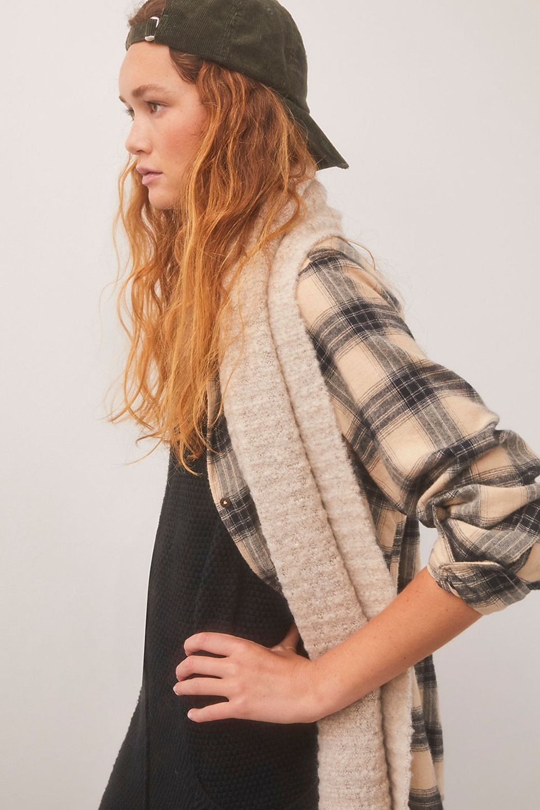 Free People  Ripple Recycled Blend Blanket Scarf - Side Cropped Image
