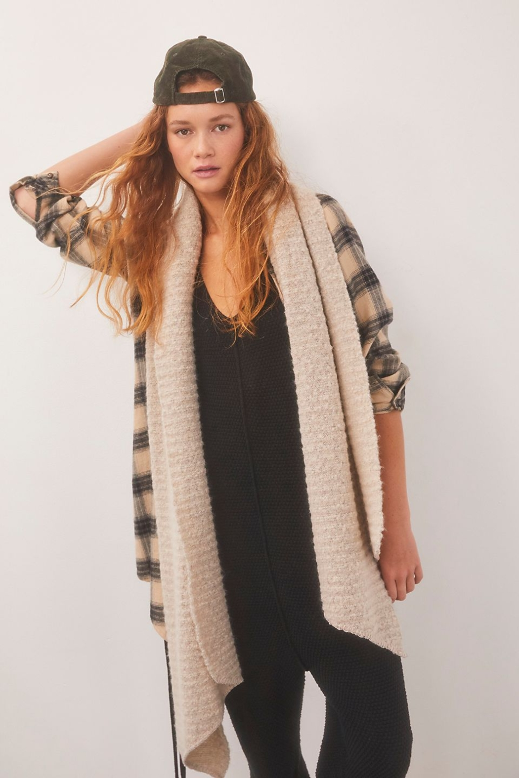 Free People  Ripple Recycled Blend Blanket Scarf - Front Cropped Image
